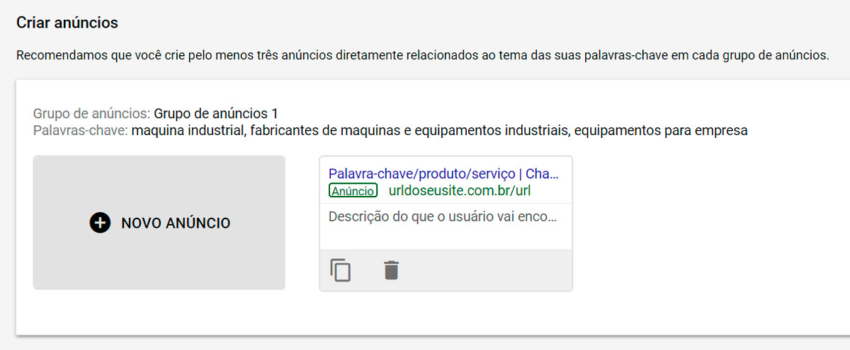Google Ads - Passo a passo - Etapa 16