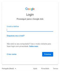 Google Ads - Passo a passo - Etapa 2
