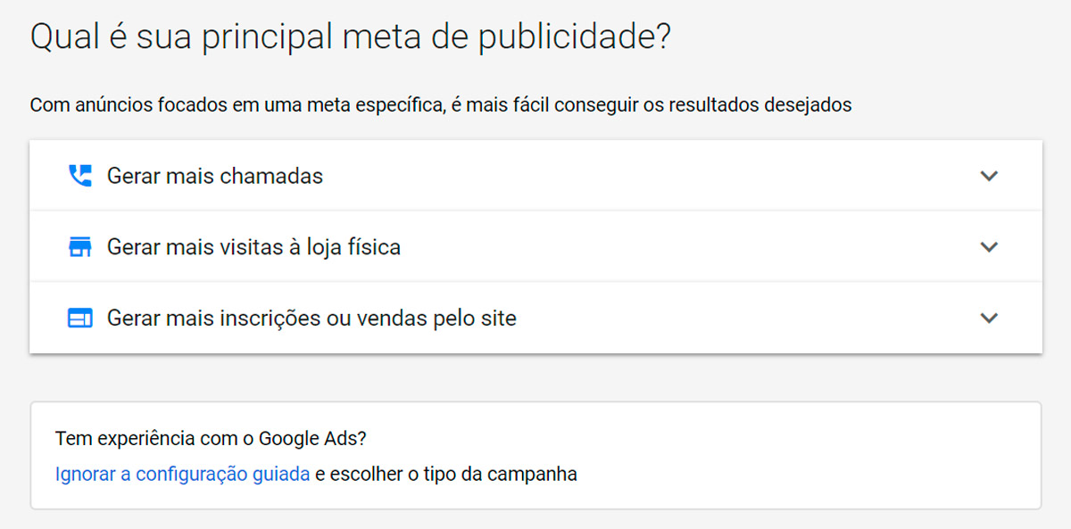 Google Ads - Passo a passo - Etapa 3