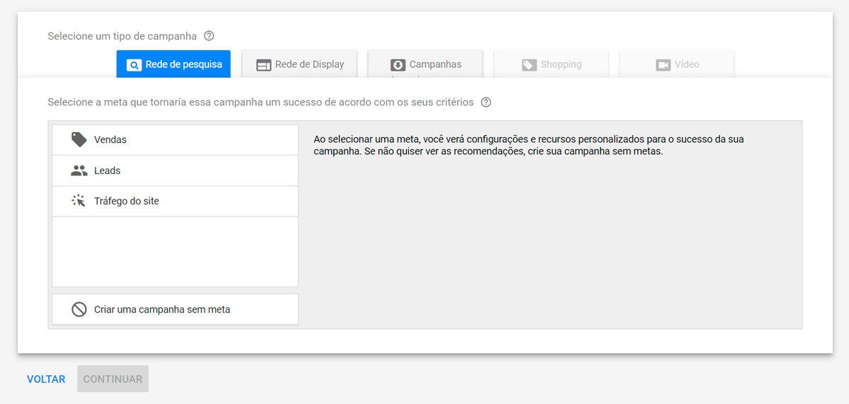 Google Ads - Passo a passo - Etapa 5